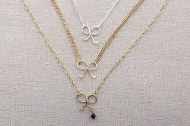 long chain bow necklace images Diy wire gift bow necklace jpg