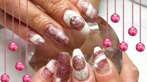 acrylic nails christmas baubles nail design youtube