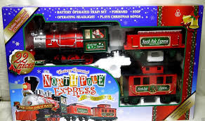 amazon com north pole express christmas train set