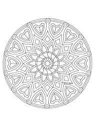mandala 4c coloring pages hellokids
