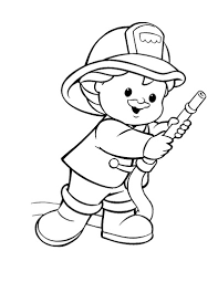 firefighter coloring pages kids coloringstar