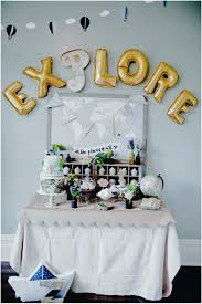 travel themed table decorations adventure themed baby shower baby showers ideas