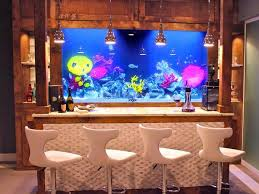 Aquarium Decor Ideas Bar With Aquarium Decor Idea Home Bar Ideas For Entertaining