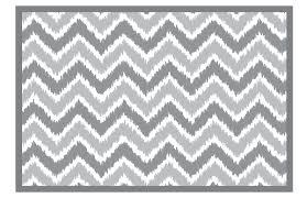 bacati mixnmatch grey ikat zigzag rug 24 x 36 inches bacati