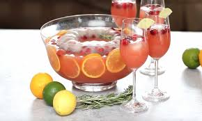 punch bowl punch with festive ring recipe with tipbuzz