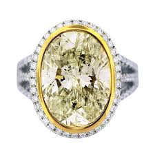 fancy yellow diamond engagement rings 8 carat light fancy yellow diamond engagement ring two tone gold