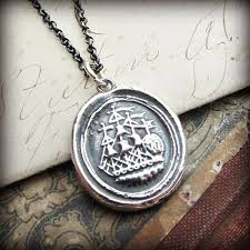wax seal jewelry adventure ship wax seal necklace shannon westmeyer jewelry