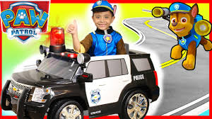 paw patrol power wheels police rollplay kids ride on car surprise toys presents power wheels