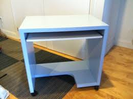 Small Rolling Computer Desk Small Ikea Rolling Desk Blue Color In Boerum Hill