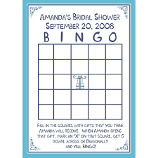 24 bridal shower bingo card game personalized