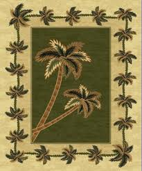 Palm Tree Runner Rug Green Bahamas Palm Tree Rug 2318 Bahamas Throw Rugs