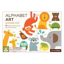 piomu animals a z alphabet art cards