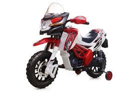 italian motocross bikes kids u0027 ride on 6v motocross bike red amazon co uk toys u0026 games