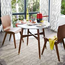west elm marble table i love this little round table for my super small condo reeve mid