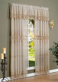 Matelasse Valance Fashion Window Annamaria Faux Linen Macrame Curtain Or Valance