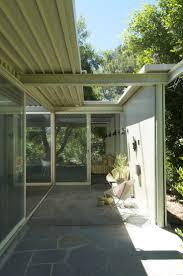 tujunga sliding glass doors flagstone patio mid century modern