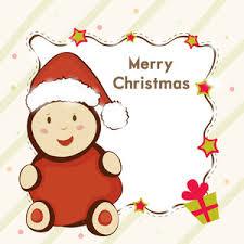 cute cartoon of a santa claus showing blak stylish frame which