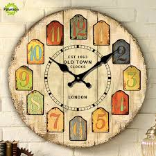 Decorative Wall Clocks For Living Room Compare Prices On Large Silent Wall Clock Online Shopping Buy Low