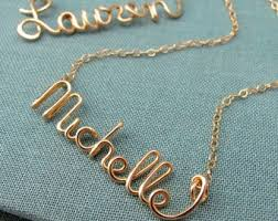 personalized engraved necklaces 14k name necklace etsy