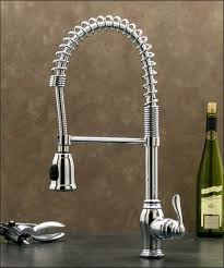 kitchen sink and faucet chrome pull down kitchen sink faucet w hand spray head hose pull