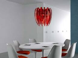 Red Chandelier foxy modern light fixtures with red chandelier on plain ceiling