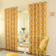 Orange Patterned Curtains Charming Yellow Patterned Curtains And Yellow Cotton Living Room