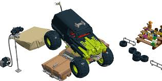 lego ideas monster truck arena
