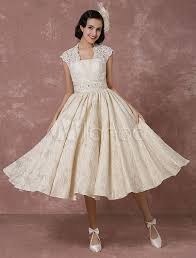 milanoo brautkleider kurzes hochzeitskleid spitze chagne vintage brautkleid
