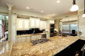 Kitchen Granite Countertops by Granite Kitchen Countertops With Backsplash Stainless Steel Moen