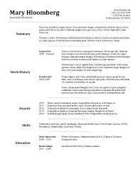 free resume templates for microsoft wordpad update goldfish bowl free resume template by hloom com education