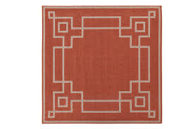Square Outdoor Rug 105x105 Square Outdoor Rug Key Border Poppy Living Spaces