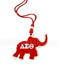 delta sigma theta letters with pearl tiki necklace item id