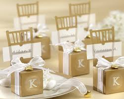 kate aspen wedding favors monogrammed gold chair favor boxes set of 12 kate aspen