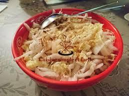 chinois à la cuisine salade de chou chinois au sésame cuisine simple et facile
