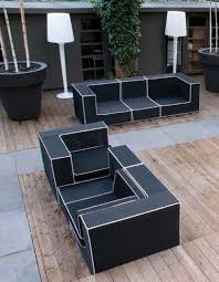 White Outdoor Furniture Minimalist Black And White Outdoor Wicker Furniture Design Ideas
