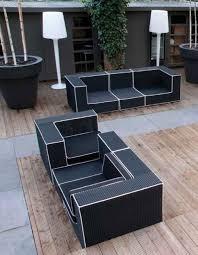 Outdoor Furniture Design Minimalist Black And White Outdoor Wicker Furniture Design Ideas