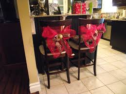 chair tie backs copy cat looks diy christmas chair tiebacks
