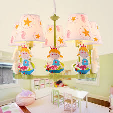 Kid Chandeliers 5 Light Fabric Shade Kid Chandeliers For Bedroom