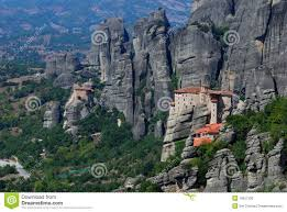 Meteora Greece Map by Monastery At Meteora Greece Stock Photo Image 16057330