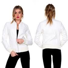 white leather jacket ebay