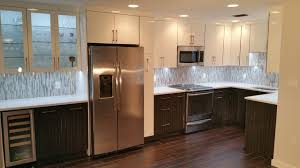 Two Tone Cabinets In Kitchen Two Tone High Gloss Kitchen In Downtown St Pete Contemporary