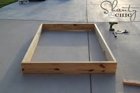 How To Make A King Size Platform Bed With Pallets by Easy Diy Platform Bed Shanty 2 Chic