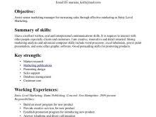 resume for hotel job with no experience free resume