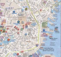 boston tourist map 41 best maps images on images city maps and travel