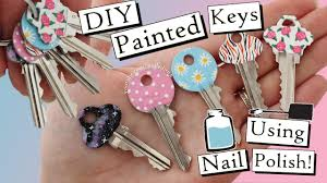 how to paint your keys with nail polish five designs youtube
