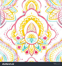 doodle indian watercolor abstract indian pattern doodle indian stock