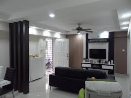 hdb resale flat renovation 4 wooded pillar living room divider