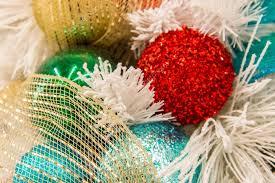 decorations multi colored ornaments stock photo