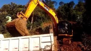 escavadeira jcb js160 trabalhando vj terraplanagens youtube