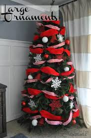 Extra Large Red Christmas Ornaments by Remodelaholic How To Decorate A Christmas Tree A Designer Look